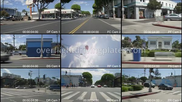 Main Street  Santa Monica California USA - Driving Plate Preview 2012