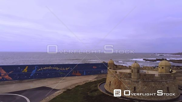 Ancient Fortress Spain Drone Video View
