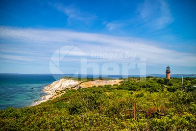 The famous Gay Head Cliffs in Cape Cod Martha's Vineyard, Massachusetts