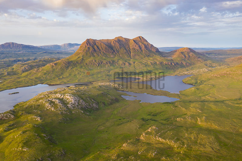 View of Cul Mor from the top of Stac Pollaidh in Late Evening Light