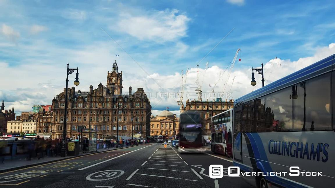 Timelapse View of Edinburgh New Town Scotland from North Bridge