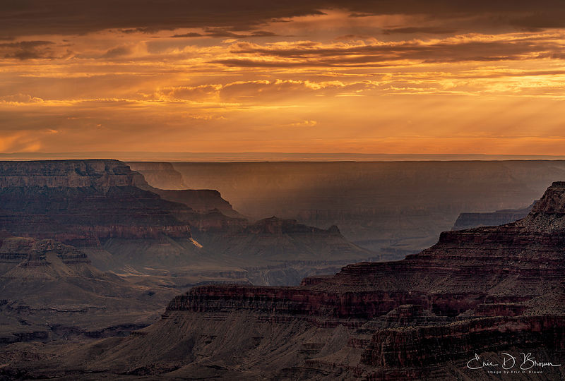 The last few minutes of light - Grand Canyon