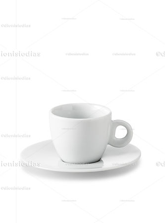 Cup with saucer of insulated dinnerware 04 with path.