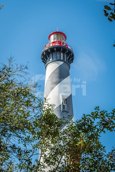 The famous St. Augustine Light Station in St Augustine, Florida