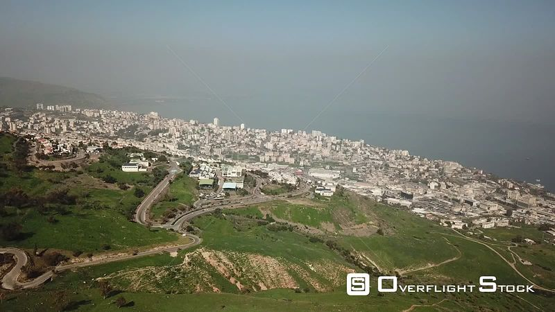 Tiberias City and the  Sea of Galilee Kineret Israel