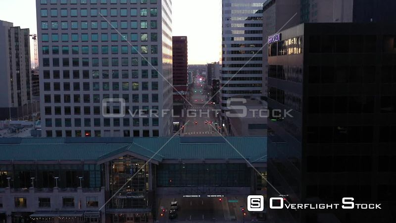 Denver, CO US. COVD-19 Empty Tabor Center During Pandemic Lockdown