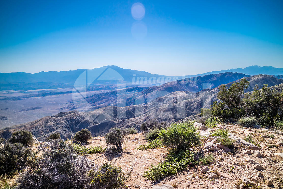 Scenic view of Ryan Mountain in Joshua Tree National Park, California