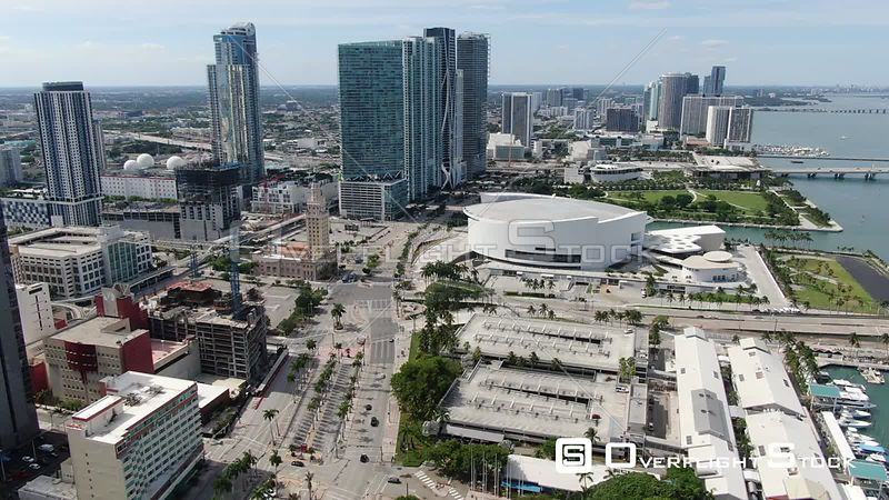 Drone Video American Airlines Arena Miami During Covid-19 Pandemic