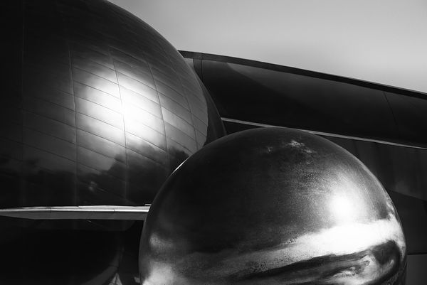 Mission Space | Abstract Black and White Print
