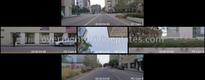 Downtown  Los Angeles California USA - Driving Plate Preview 2012