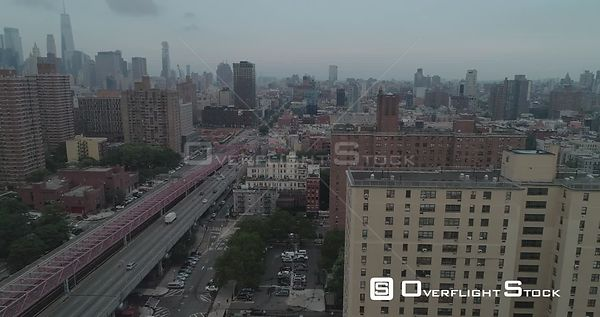 Aerial View of Lower East Side NYC
