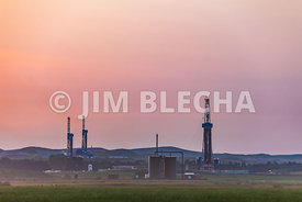 Rigs and North Dakota Landscape