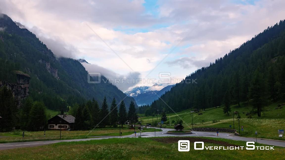 Time lapse view of Italian Alps in Aosta valley