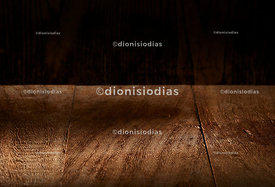 Wooden dark background with clear.