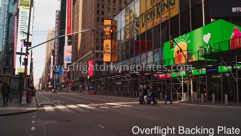 45th Healthcare Workers Deserted Streets During Covid-19 Pandemic 8k Times Square Manhattan NYC New York USA - BackingPlate A...
