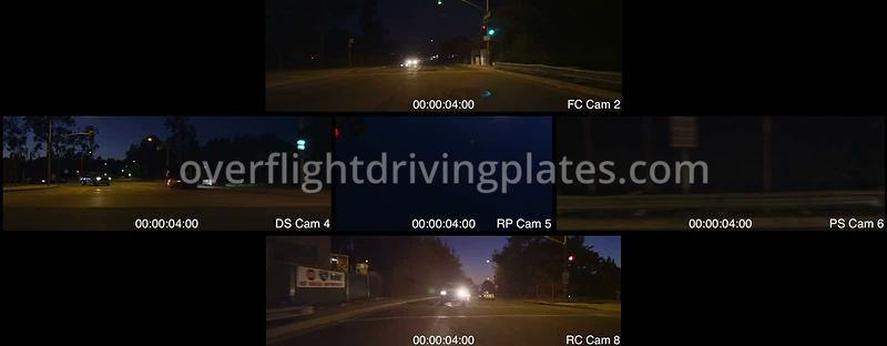 Colorado Boulevard Bridge Twilight  Pasadena California USA - Driving Plate Preview 2012