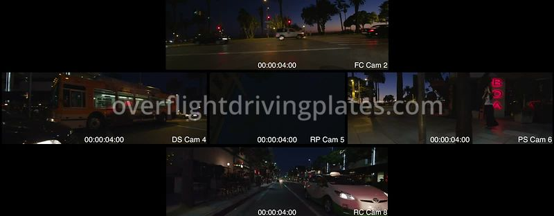 Oceanfront Dusk  Santa Monica California USA - Driving Plate Preview 2012
