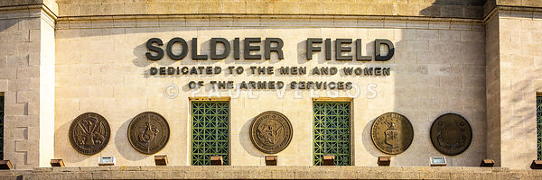 Chicago Bears Soldier Field Sign Panorama Photo