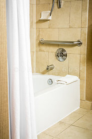 Handicapped Accessible Bathtub in a Hotel Room