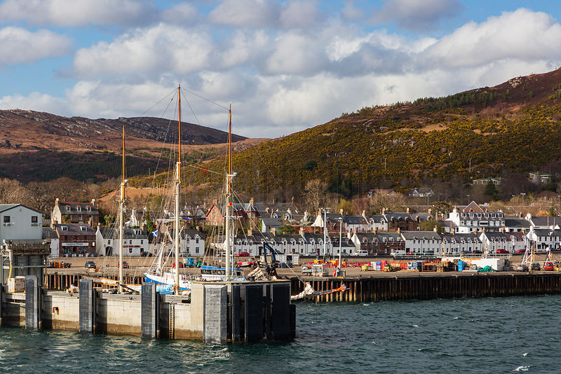Leaving the Ferryport at Ullapool heading across to the Isle of Harris