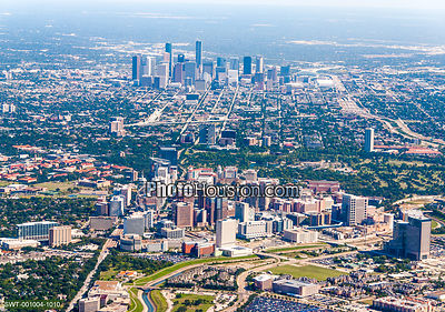 Texas Medical Center and downtown Houston skyline