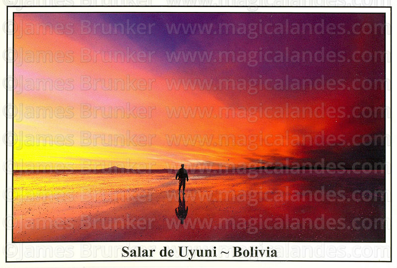 #319 Tourist admiring the sunset over the Salar de Uyuni in the rainy season