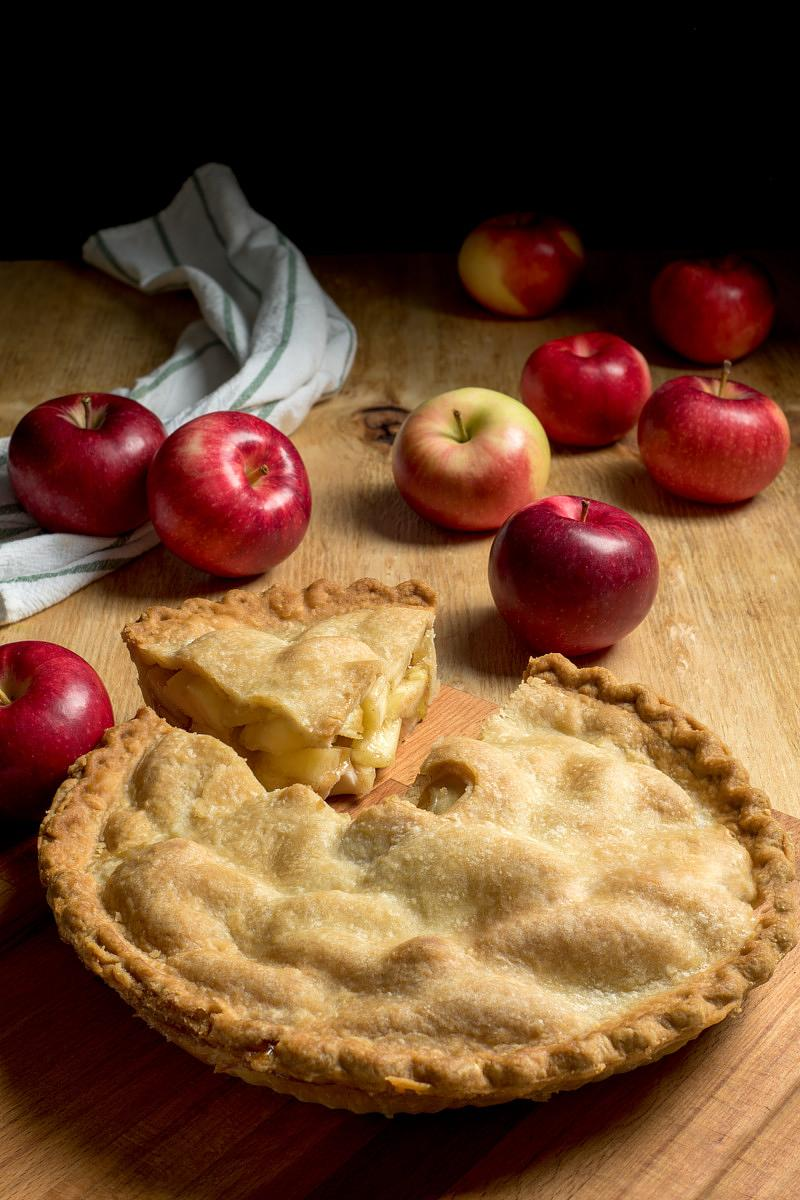 Apple pie, Montreal food photographer, commercial photography
