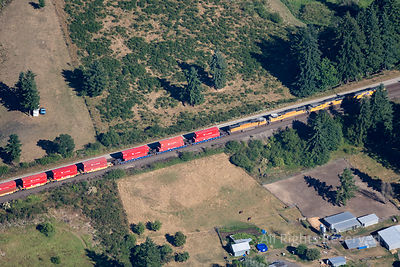 Train in Eatonville Washington USA
