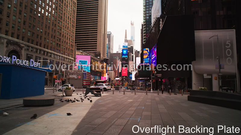 NYPD  Deserted StreetsDuring Covid-19 Pandemic Time Square Manhattan New York New York USA - BackingPlate Apr 26, 2020