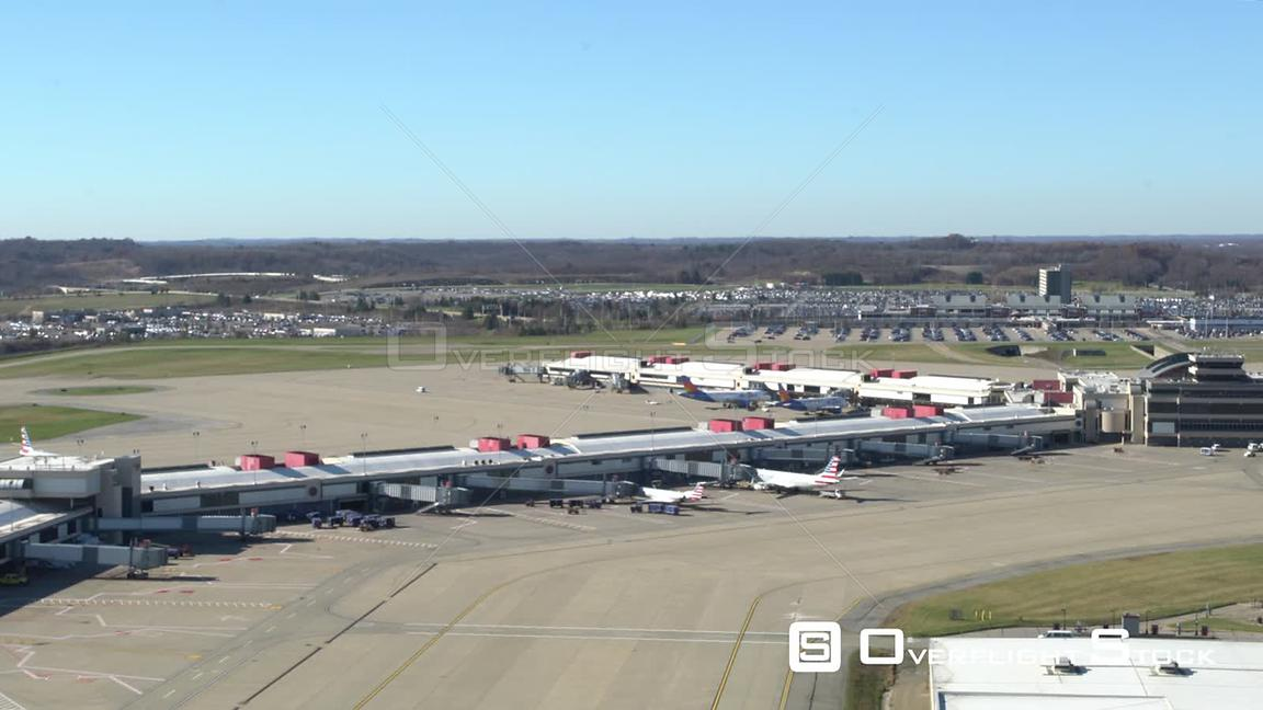 View of Airport Terminal from Control Tower at Pittsburgh International Airport KPIT