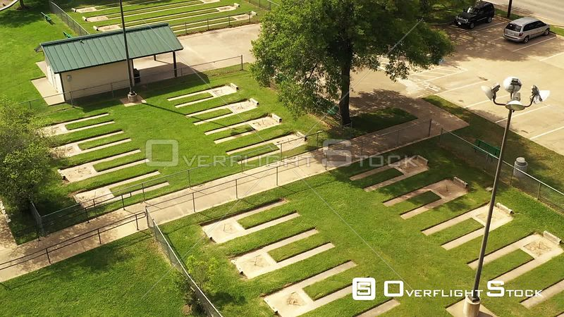Abandoned Horseshoe Pits in a Park, Bryan, Texas, USA
