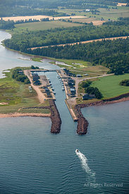 Port Entry to Launching Pond Prince Edward Island Canada