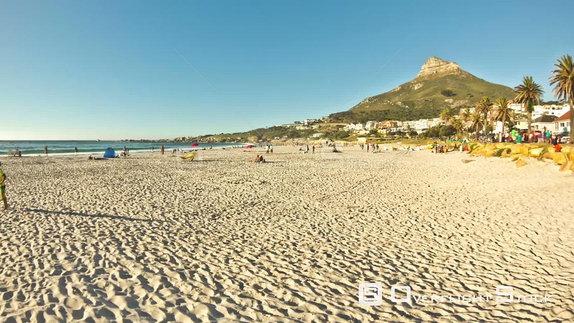 Beach time lapse clip at Camps Beach near Cape Town in South Africa.