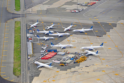 JFK Airport jetBlue  Parked Planes During Covid-19 Pandemic New York