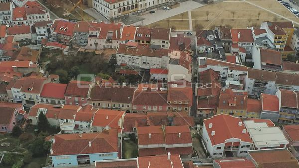 Town of Alcobaca Portugal Drone Video View