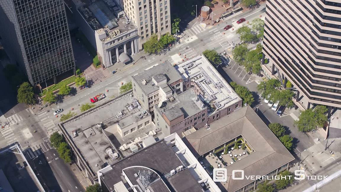 Seattle Washington State USA Time lapse of Seattle city center streets from above.