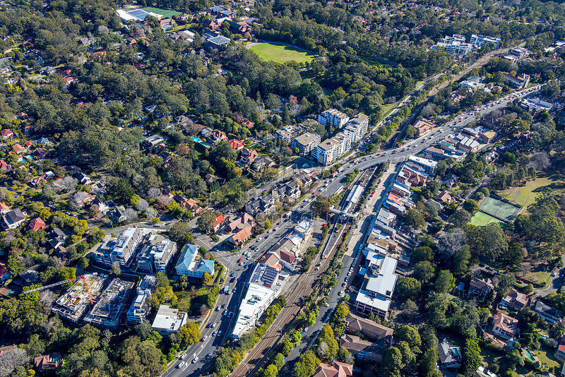 Pymble shops and Station