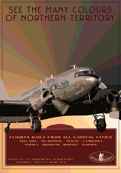 DC3 travel poster