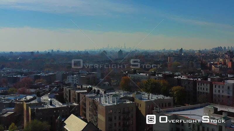 Drone Video Over Aparments in the Bronx New York