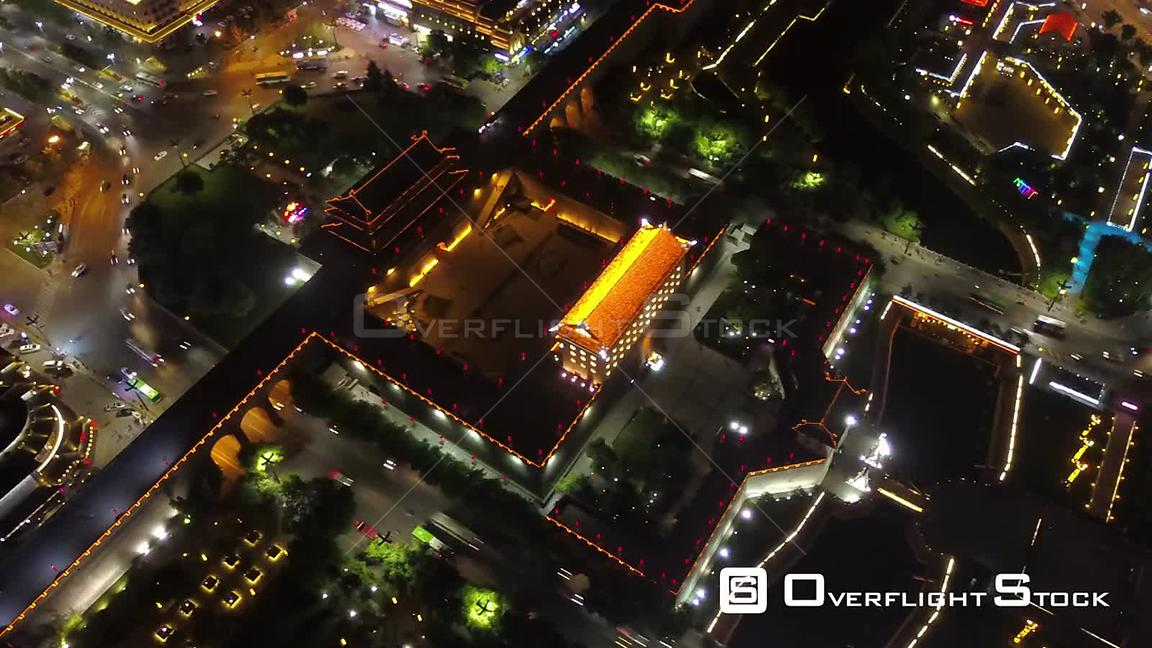 China Xian China Aerial 01 Time Lapse Night.mov