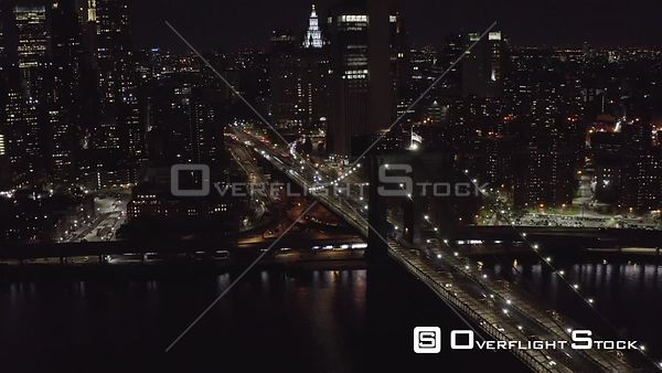 Brooklyn Bridge at Night Manhattan New York During the Covid-19 Pandemic