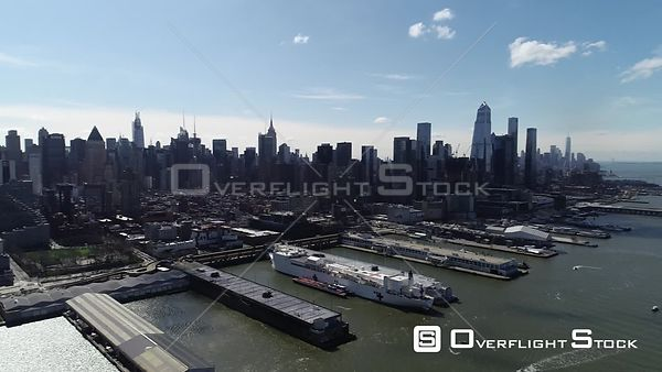 Drone Video USNS COMFORT in New York During COVID-19 Pandemic