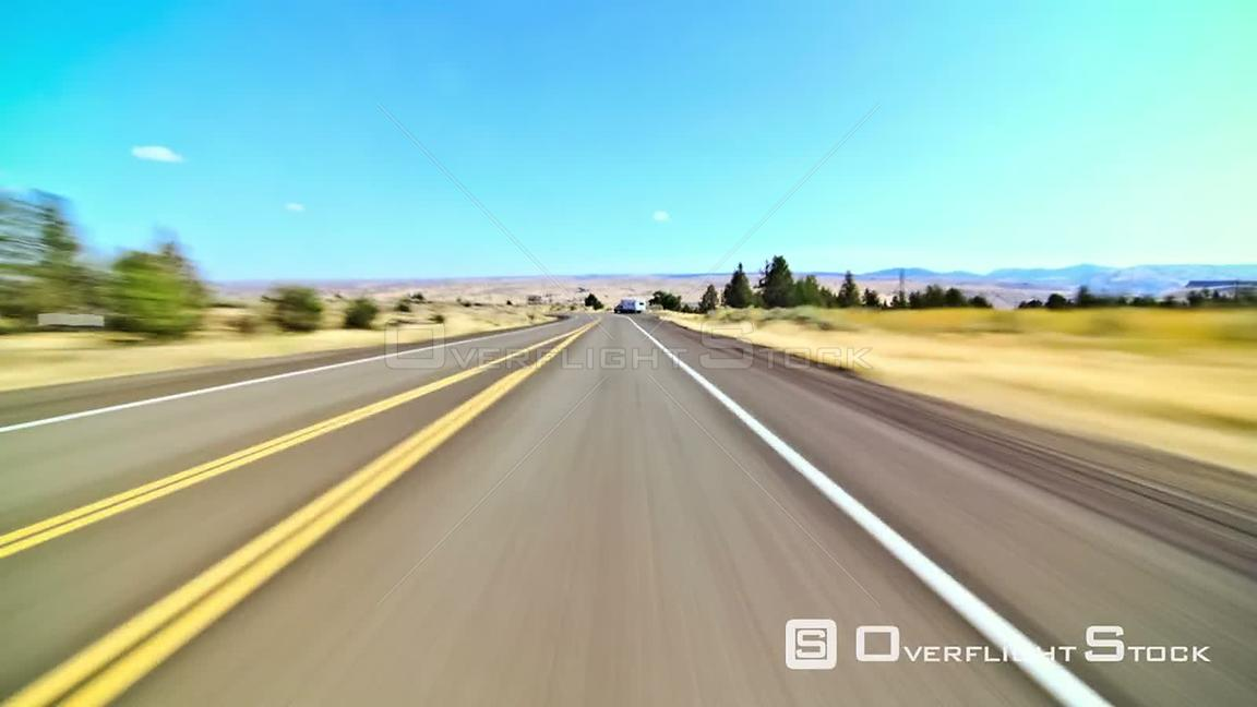Driving time lapse through Eastern Oregon and Maupin Oregon