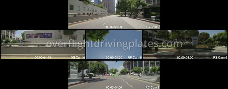 Downtown Flower Street  Los Angeles California USA - Driving Plate Preview 2012