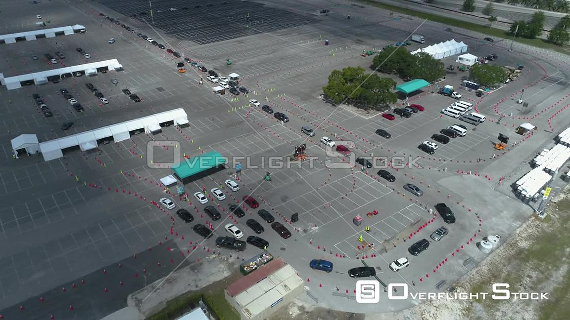 COVID-19 Drive Through Test Site Miami Floridia