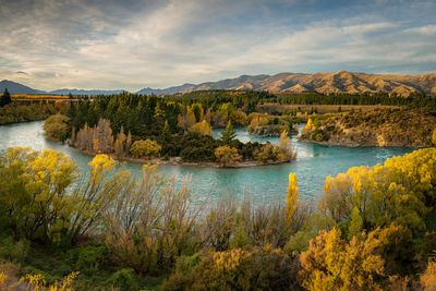 Sunset on the Clutha River at Devils Nook near Luggate.