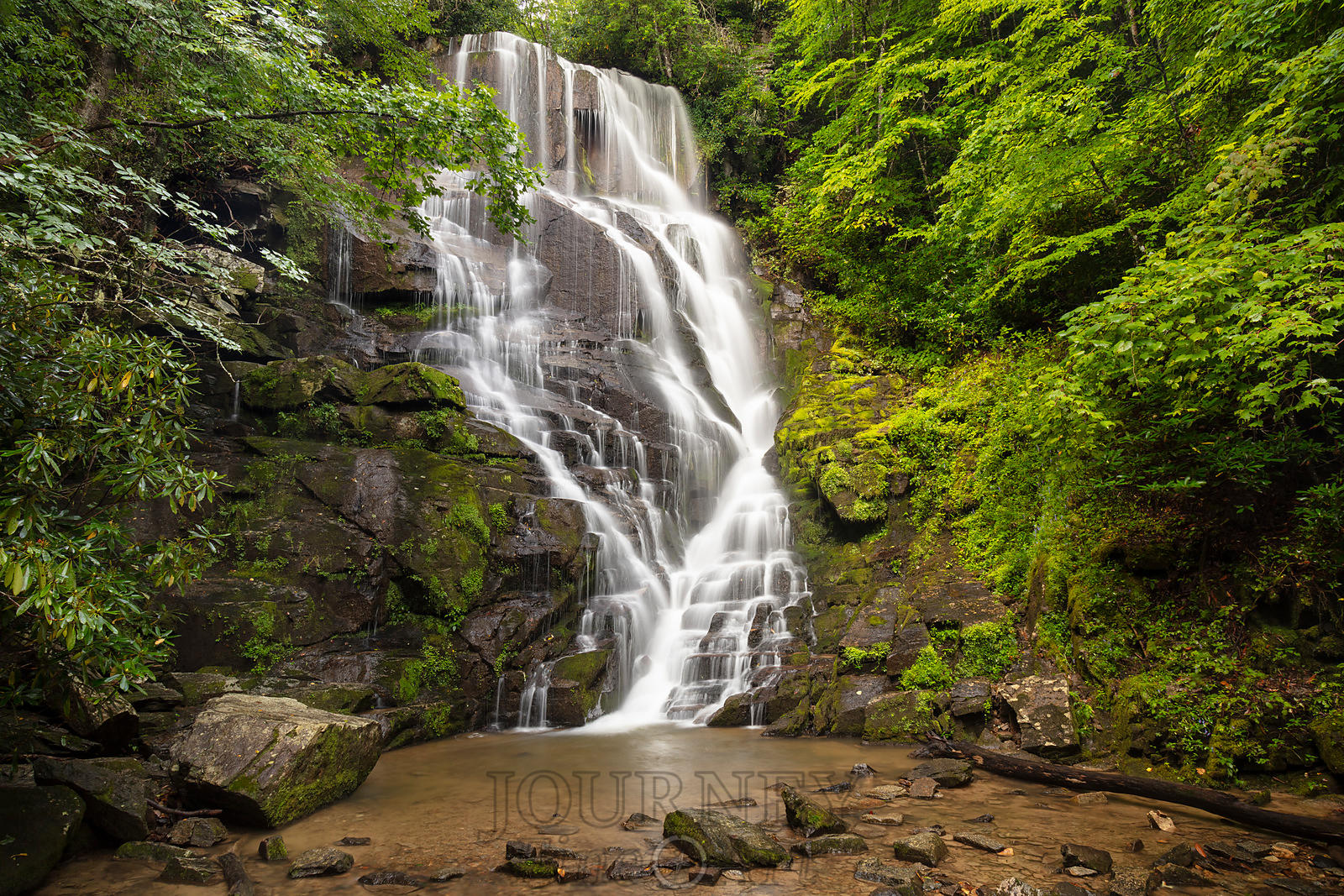 Eastatoe Falls in Summer
