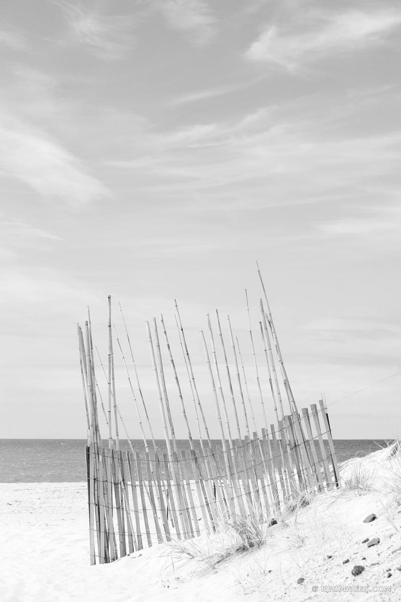 SOUTHAMPTON LONG ISLAND BEACH BLACK AND WHITE VERTICAL