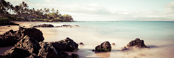 Mokapu Beach Wailea  Maui Hawaii Panorama Photo