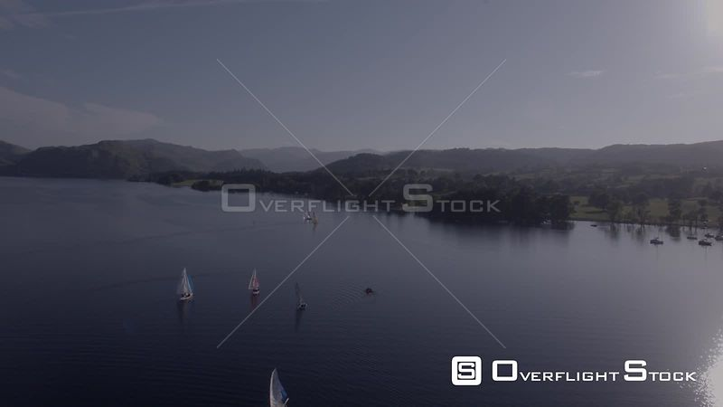 A Sailing Competition on Ullswater on a Hazy, Sunny Summers Evening